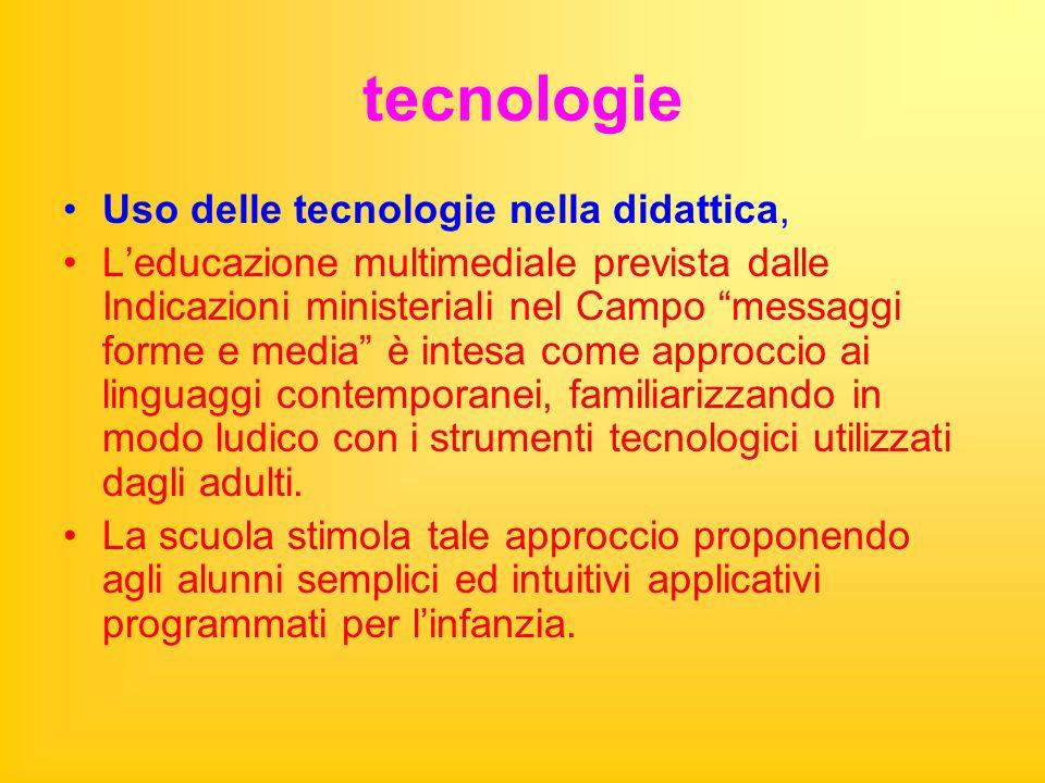 """tecnologie Uso delle tecnologie nella didattica, L'educazione multimediale prevista dalle Indicazioni ministeriali nel Campo """"messaggi forme e media"""""""