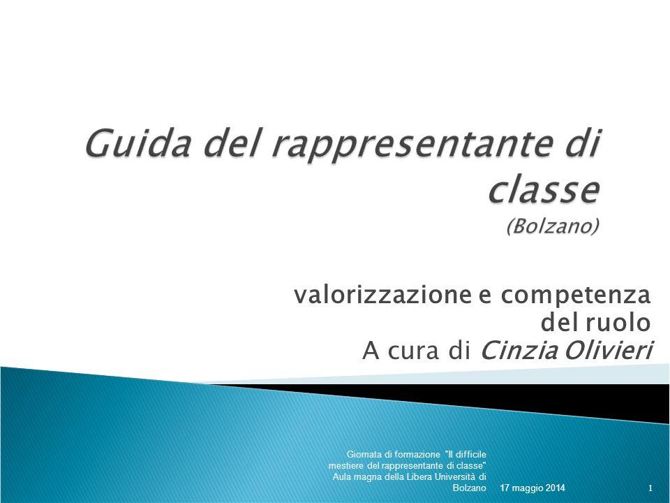 valorizzazione e competenza del ruolo A cura di Cinzia Olivieri 17 maggio 2014 Giornata di formazione