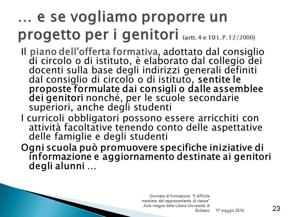 Il piano dell'offerta formativa, adottato dal consiglio di circolo o di istituto, è elaborato dal collegio dei docenti sulla base degli indirizzi gene