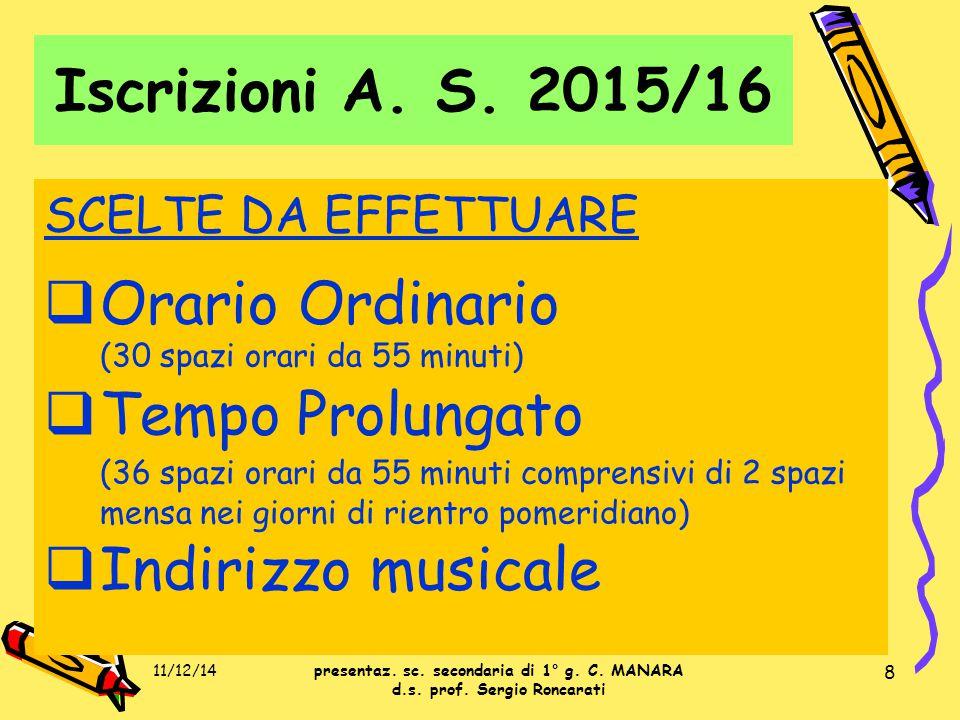 59 DOMANDE presentaz. sc. secondaria di 1° g. C. MANARA d.s. prof. Sergio Roncarati 11/12/1459