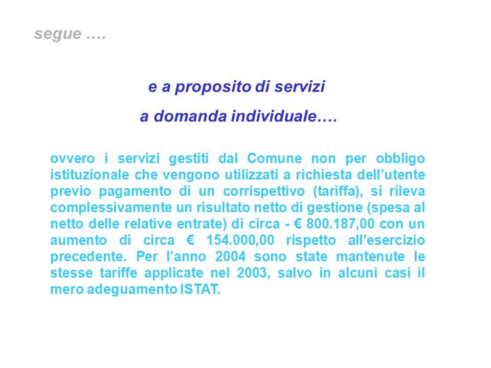 e a proposito di servizi a domanda individuale….