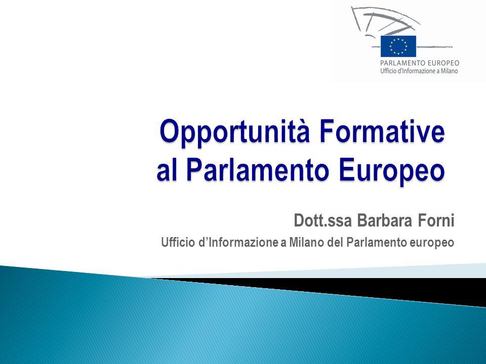 Dott.ssa Barbara Forni Ufficio d'Informazione a Milano del Parlamento europeo