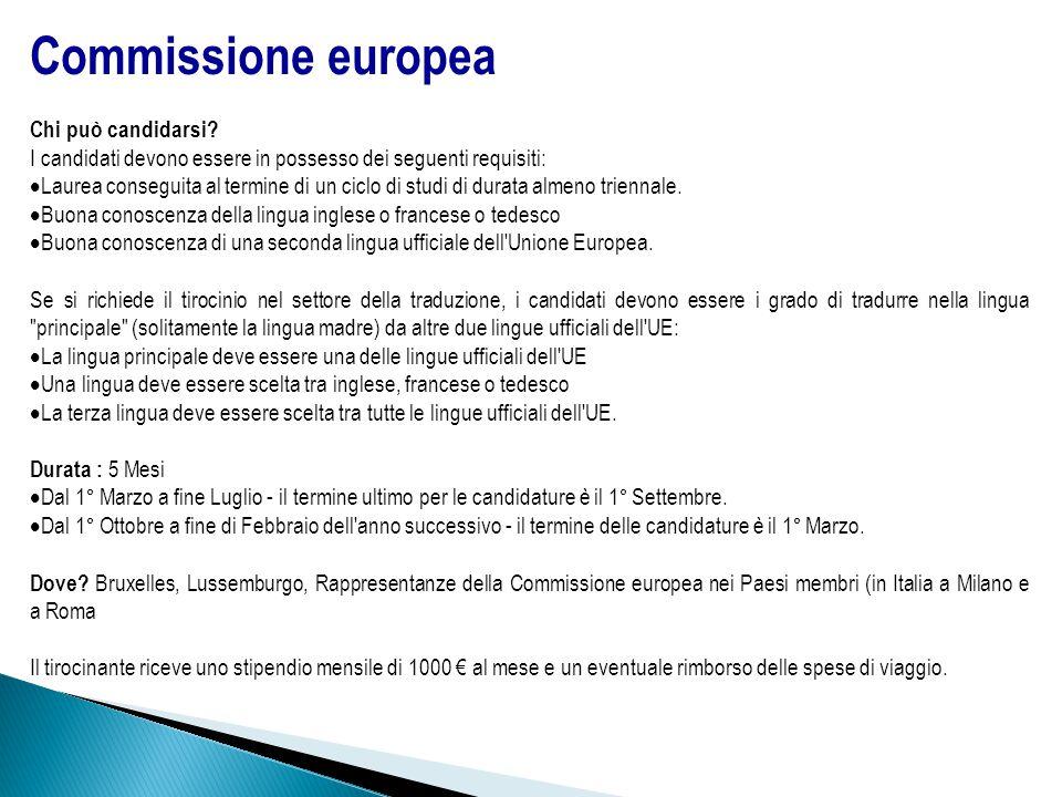 Commissione europea Chi può candidarsi.