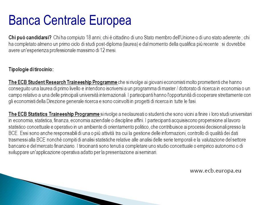 Banca Centrale Europea Chi può candidarsi.