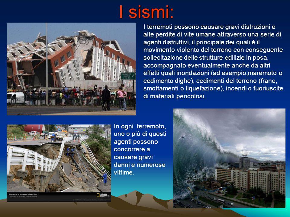 I sismi: I terremoti possono causare gravi distruzioni e alte perdite di vite umane attraverso una serie di agenti distruttivi, il principale dei qual