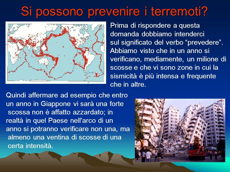 """Si possono prevenire i terremoti? Prima di rispondere a questa domanda dobbiamo intenderci sul significato del verbo """"prevedere"""". Abbiamo visto che in"""