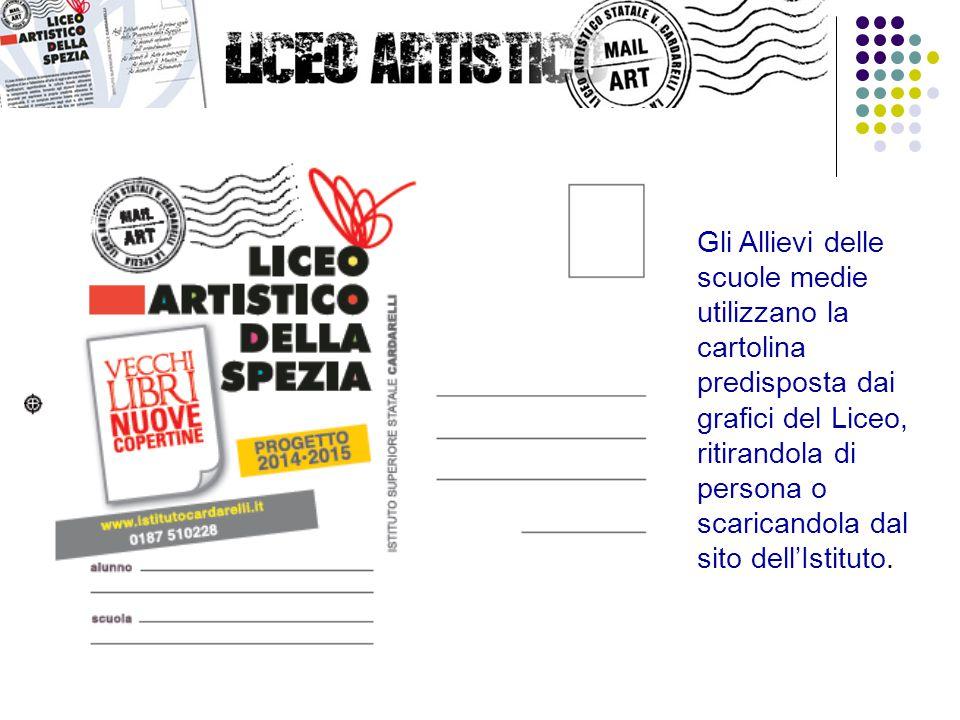 Gli Allievi delle scuole medie utilizzano la cartolina predisposta dai grafici del Liceo, ritirandola di persona o scaricandola dal sito dell'Istituto.