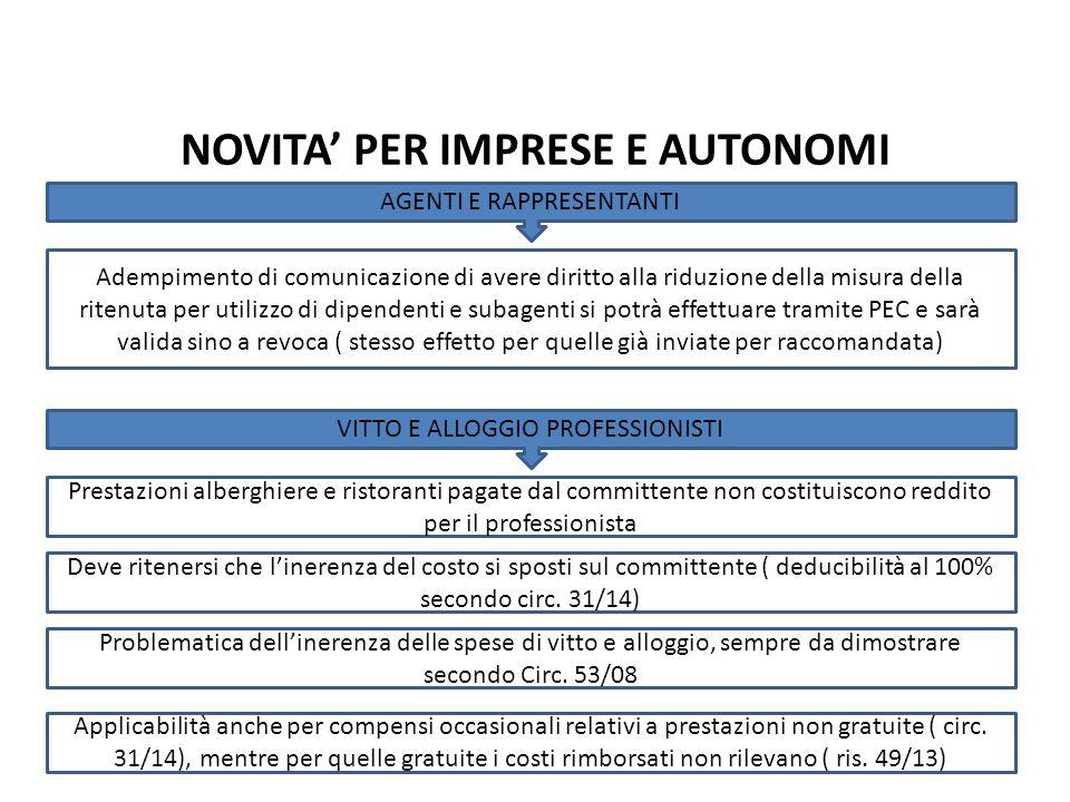 Adempimento di comunicazione di avere diritto alla riduzione della misura della ritenuta per utilizzo di dipendenti e subagenti si potrà effettuare tr