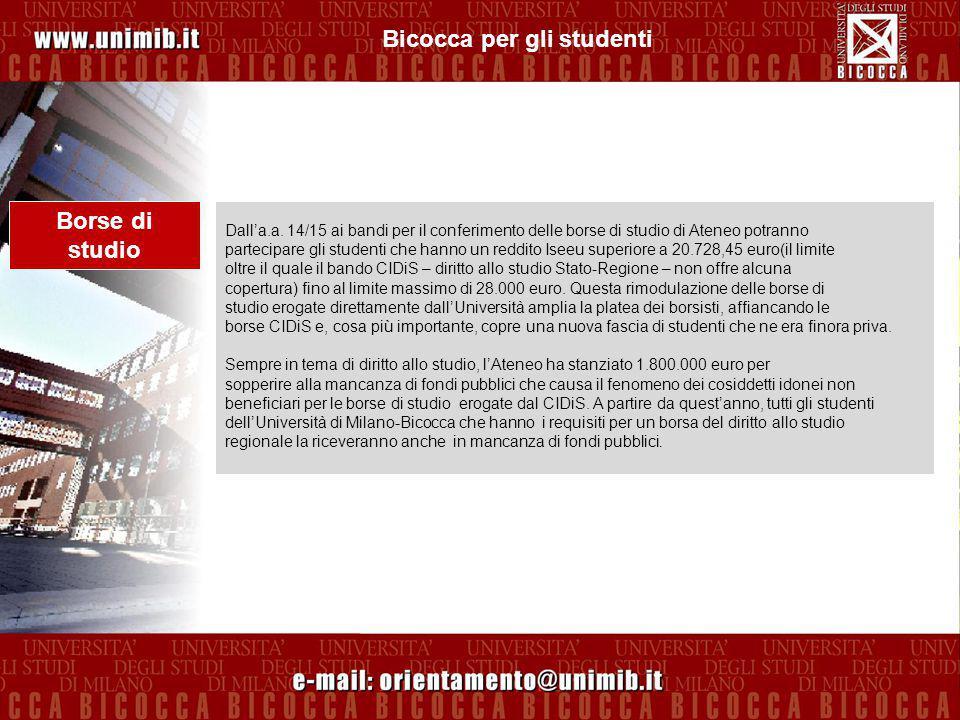 Bicocca per gli studenti Software gratis L Università ha stipulato contratti Campus per la fornitura di software di interesse didattico e scientifico agli studenti, con la possibilità di installarli, gratuitamente, anche sui PC personali.
