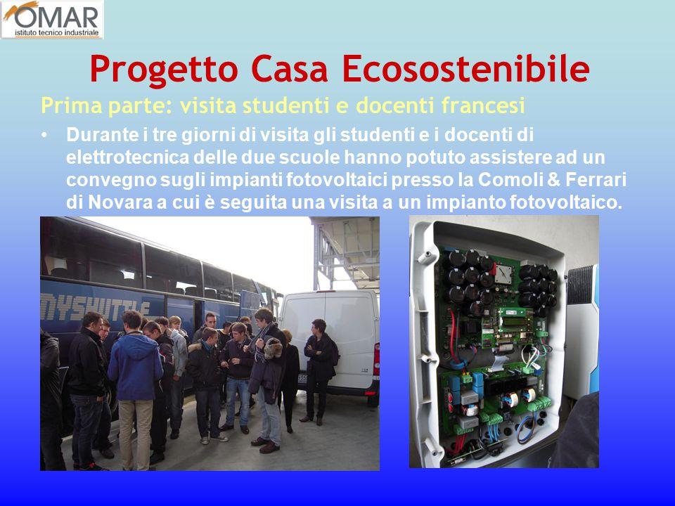 Prima parte: visita studenti e docenti francesi Durante i tre giorni di visita gli studenti e i docenti di elettrotecnica delle due scuole hanno potut
