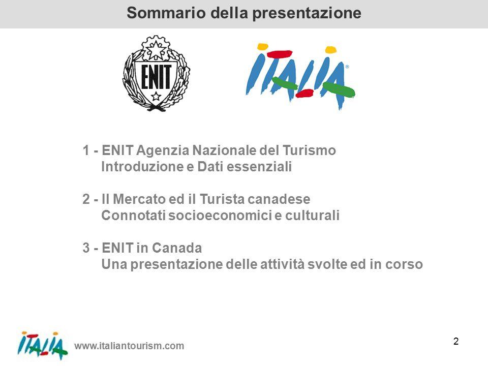 www.italiantourism.com 23 Italian Government Tourist Board Agence Nationale Italienne pour le Tourisme Grazie per la vostra attenzione.