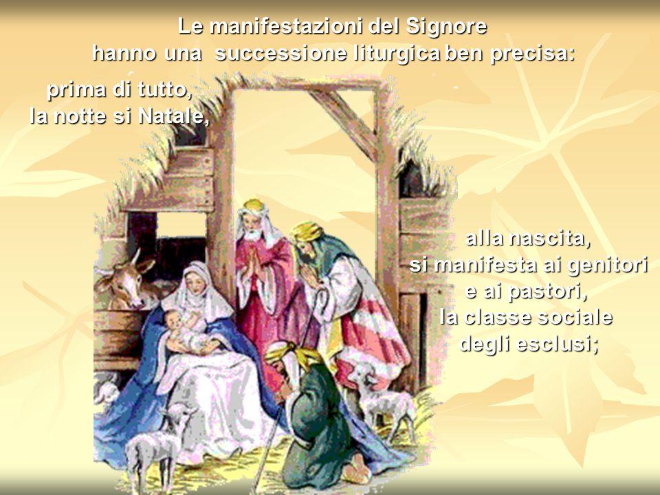 poi all'ottavo giorno, il primo giorno dell'anno civile, si fa riconoscere da Simone ed Anna, i giusti del mondo religioso ufficiale; i giusti del mondo religioso ufficiale; con la circoncisione e l'imposizione del nome,