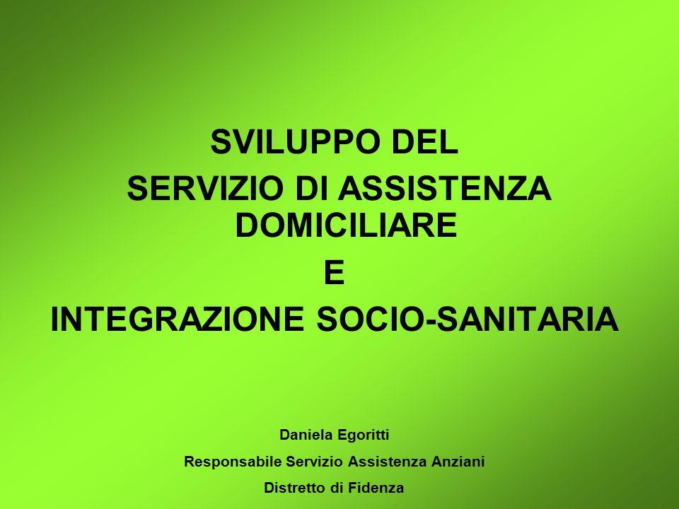 COMUNI DEL DISTRETTO DI FIDENZA Residenti per fascia d'età all'1/1/2008