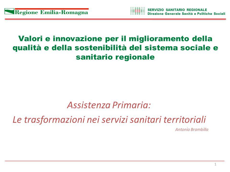 SERVIZIO SANITARIO REGIONALE Direzione Generale Sanità e Politiche Sociali 22 ….gli ho detto che nel centro di Bologna non si perde neanche un bambino………