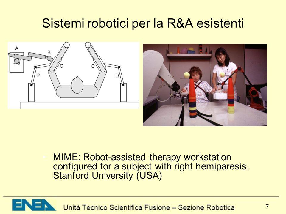 8 Sistemi robotici per la R&A esistenti The robotic wheelchair MAid(DE-IT)