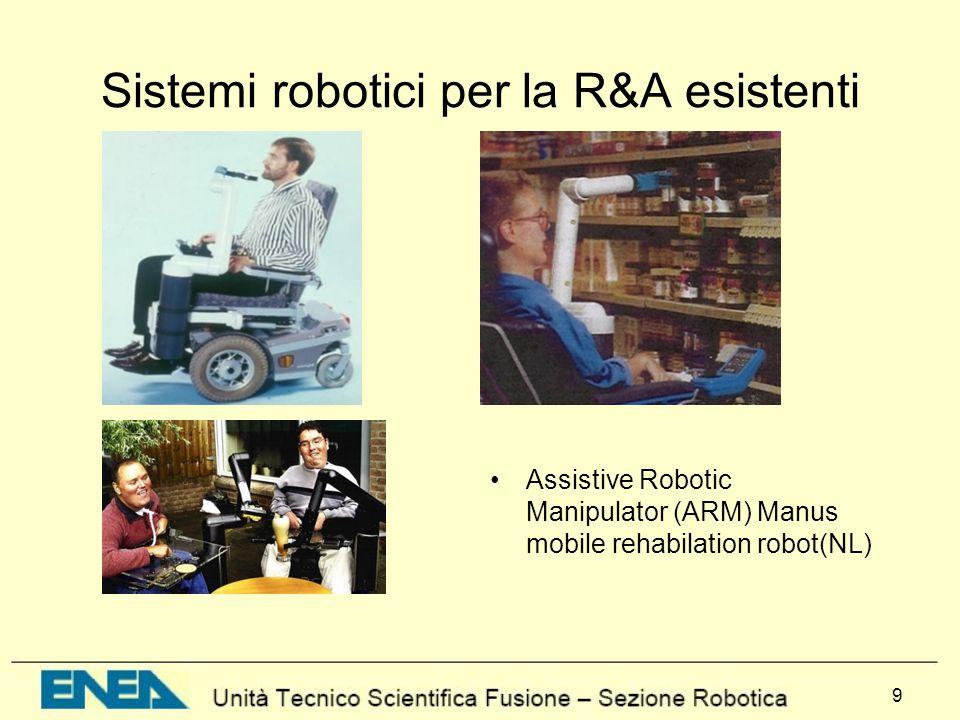10 Limitazioni Riabilitazione: –attuatori, –sicurezza Assistenza: –sistemi di controllo –mobilità –Autonomia personale –Interfaccia utente