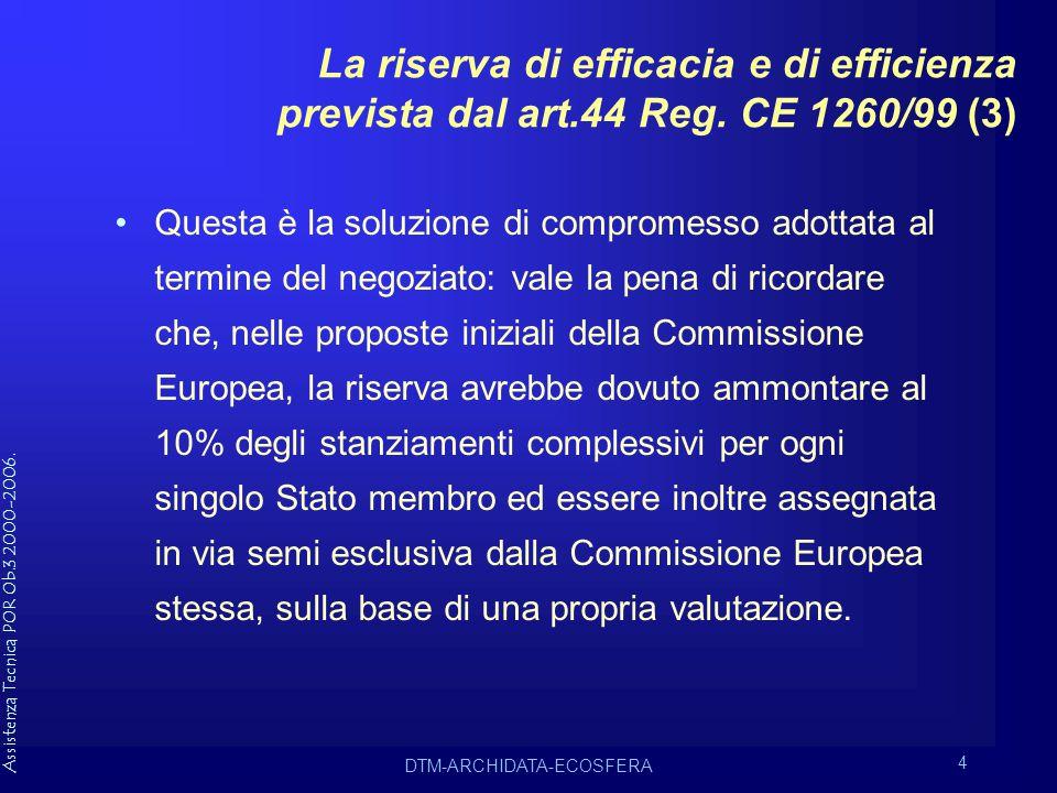 Assistenza Tecnica POR Ob.3 2000-2006.