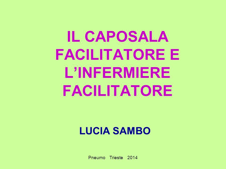 Pneumo Trieste 2014 IL CAPOSALA FACILITATORE E L'INFERMIERE FACILITATORE LUCIA SAMBO