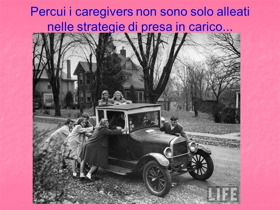 Percui i caregivers non sono solo alleati nelle strategie di presa in carico...