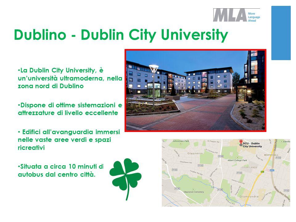 Dublino - Dublin City University SISTEMAZIONE Gli studenti alloggeranno in appartamenti formati da camere singole e doppie con servizi privati Appartamenti dotati di ogni comfort con cucina e area living con televisione I pasti saranno consumati nella bellissima mensa al interno del college