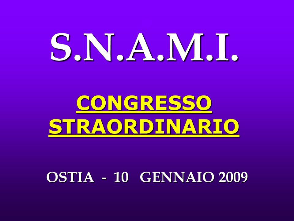 S.N.A.M.I. CONGRESSO STRAORDINARIO OSTIA - 10 GENNAIO 2009