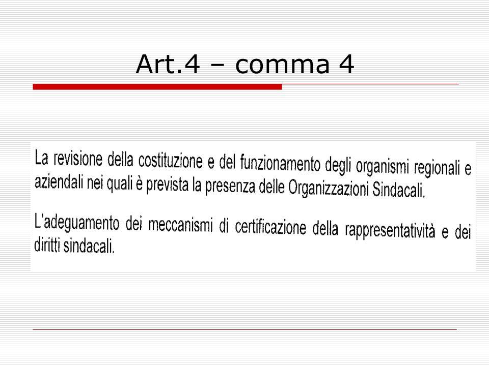 Art. 3 – comma 4 Dall'entrata in vigore del presente accordo, i medici di medicina generale, i pediatri di libera scelta, gli specialisti ambulatorial