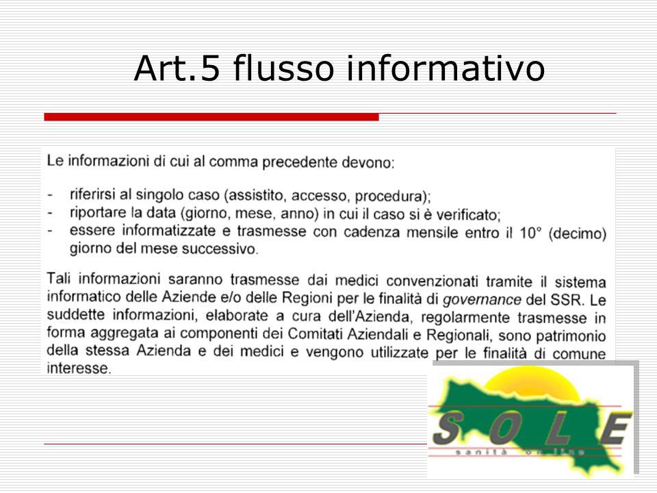 Art.5 flusso informativo