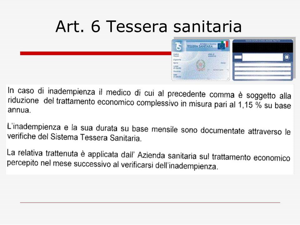 Art.6 Tessera sanitaria