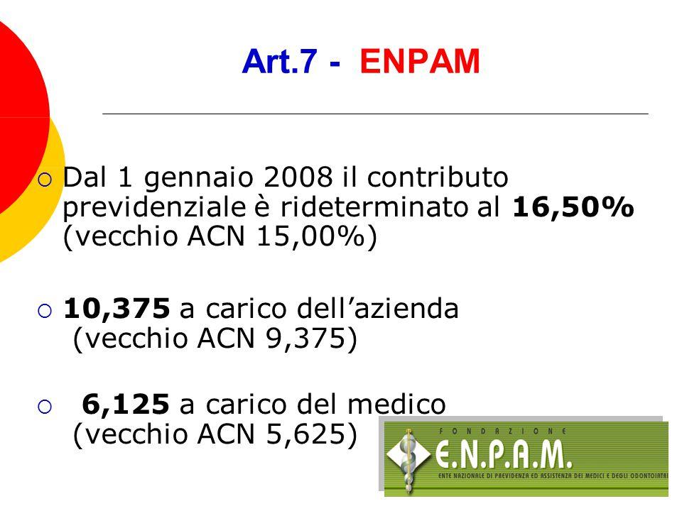 Art.7 trattamento economico