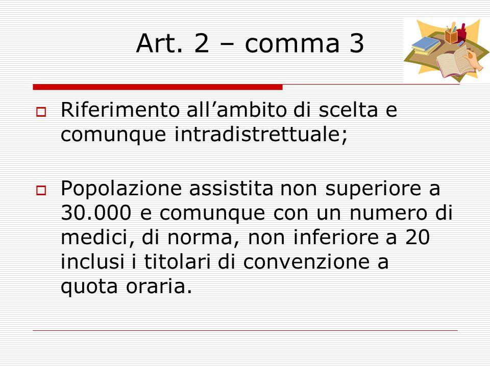 Art. 2 – Finalità dell'aggregazione funzionale  Con le aggregazioni funzionali si realizzano le condizioni per l'integrazione professionale delle att