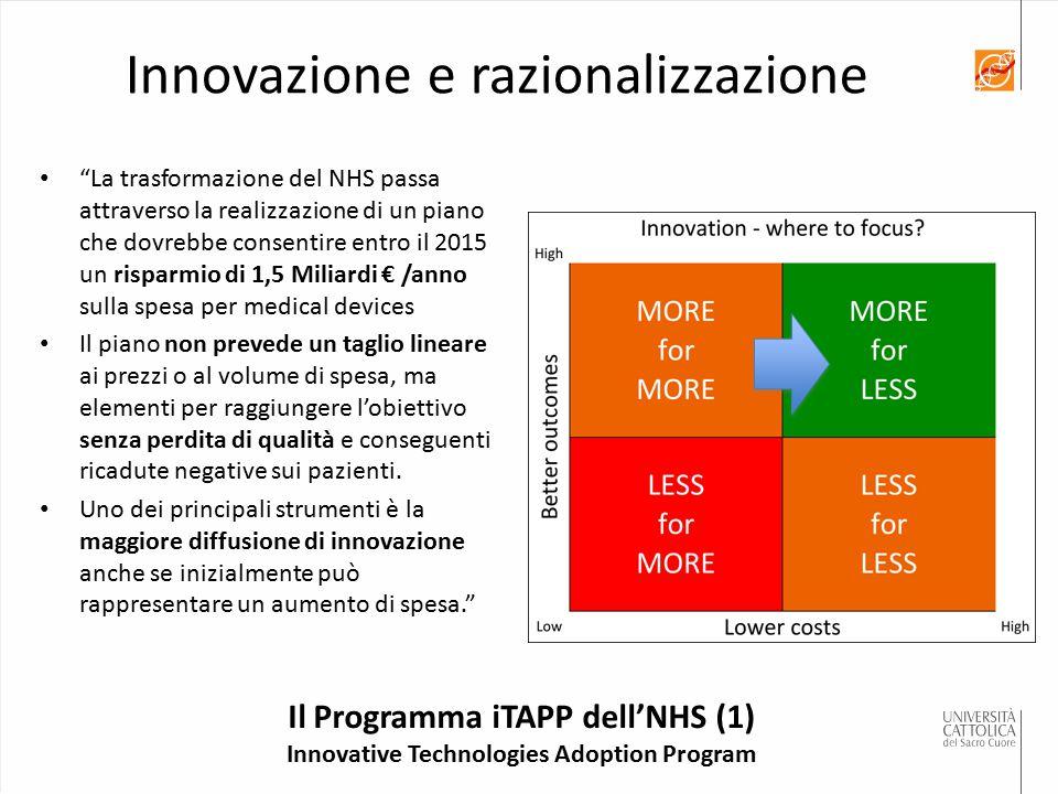 """Il Programma iTAPP dell'NHS (1) Innovative Technologies Adoption Program """"La trasformazione del NHS passa attraverso la realizzazione di un piano che"""