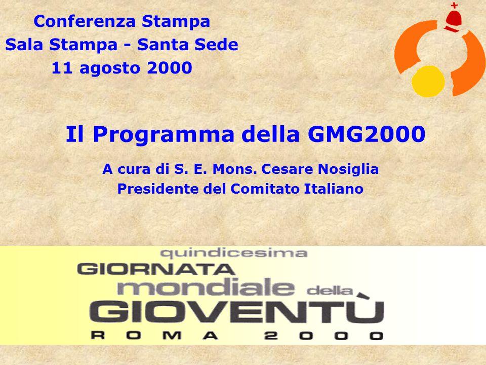 Conferenza Stampa Sala Stampa - Santa Sede 11 agosto 2000 Il Programma della GMG2000 A cura di S.