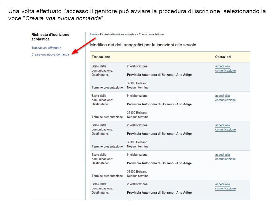 A questo punto è possibile scegliere tra i diversi moduli di iscrizione disponibili.