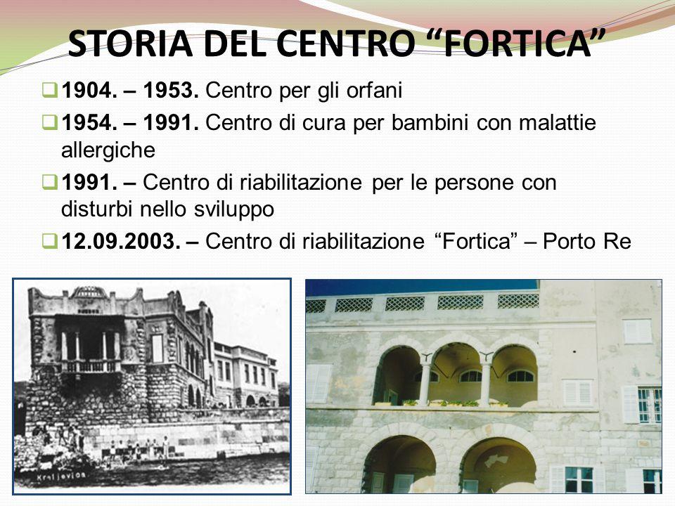 STORIA DEL CENTRO FORTICA  1904. – 1953. Centro per gli orfani  1954.
