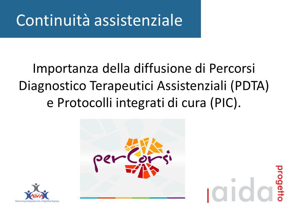 Continuità assistenziale Importanza della diffusione di Percorsi Diagnostico Terapeutici Assistenziali (PDTA) e Protocolli integrati di cura (PIC).