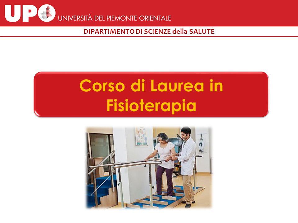 DIPARTIMENTO DI SCIENZE della SALUTE Corso di Laurea in Fisioterapia