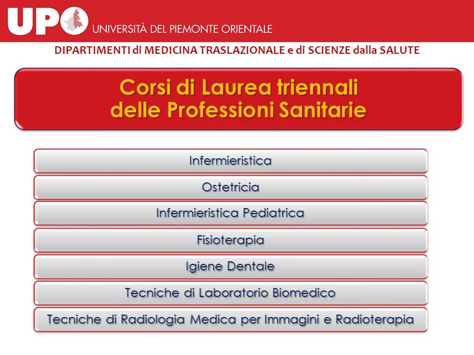 Infermieristica Ostetricia Infermieristica Pediatrica Fisioterapia Igiene Dentale Tecniche di Laboratorio Biomedico Tecniche di Radiologia Medica per
