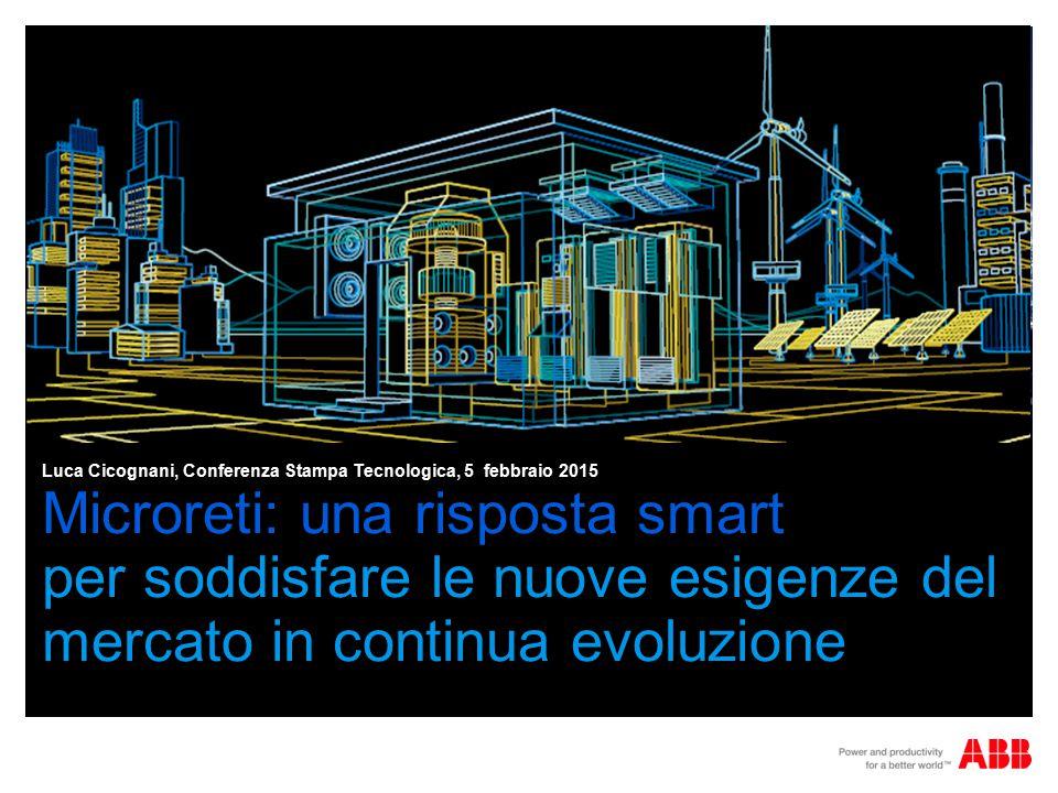 Microreti: una risposta smart per soddisfare le nuove esigenze del mercato in continua evoluzione Luca Cicognani, Conferenza Stampa Tecnologica, 5 febbraio 2015