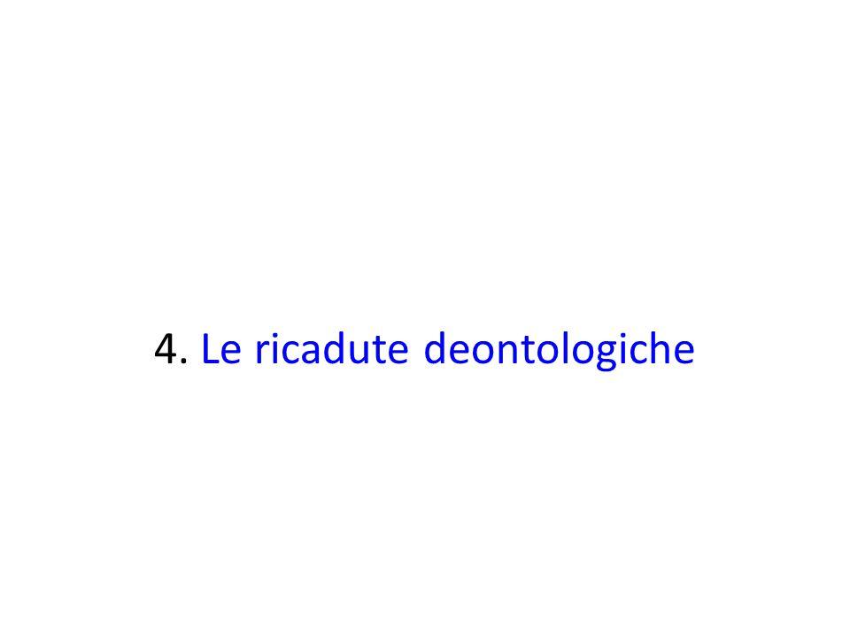 4. Le ricadute deontologiche