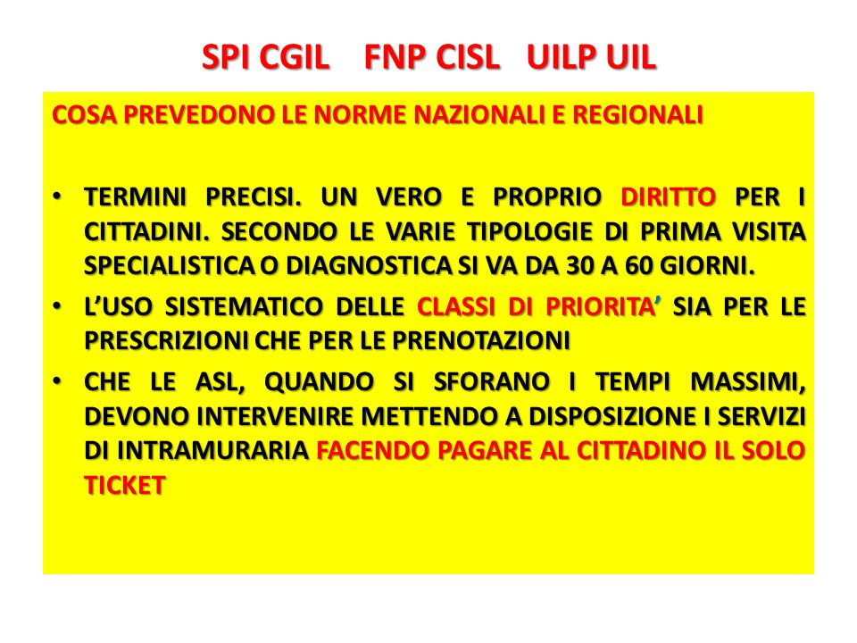 SPI CGIL FNP CISL UILP UIL RIORDINO ISTITUZIONALE.