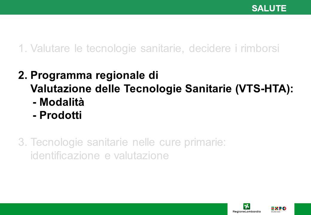17 SALUTE Bando ricerca finalizzata per valutazioni HTA Regione Lombardia Decreto D.G.