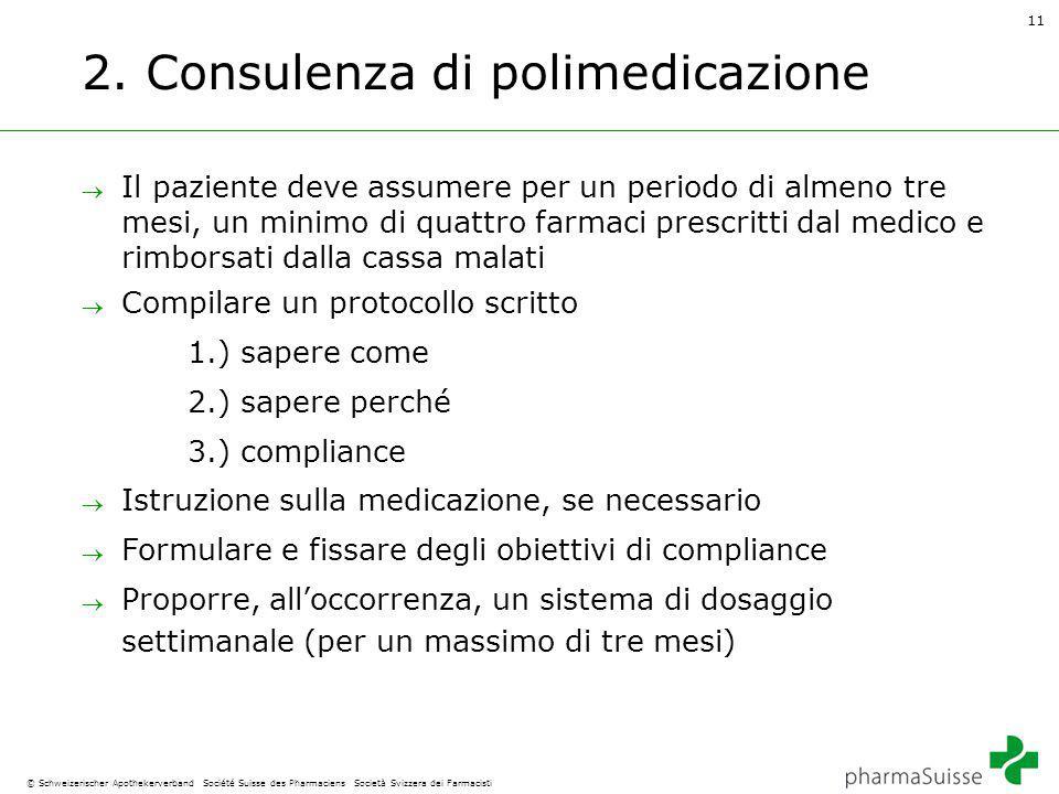 11 © Schweizerischer Apothekerverband Société Suisse des Pharmaciens Società Svizzera dei Farmacisti 2.