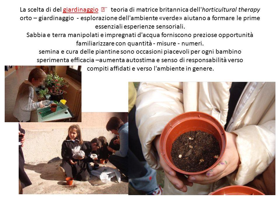 La scelta di del giardinaggio ¨ teoria di matrice britannica dell'horticultural therapy orto – giardinaggio - esplorazione dell'ambiente «verde» aiut