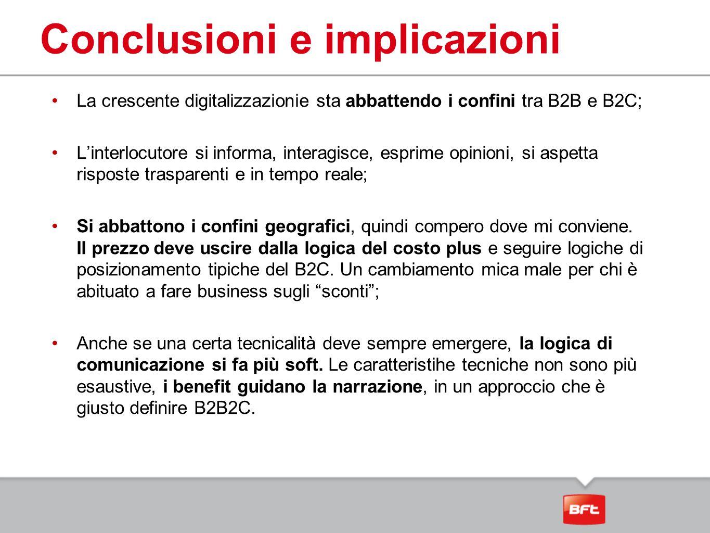 La crescente digitalizzazionie sta abbattendo i confini tra B2B e B2C; L'interlocutore si informa, interagisce, esprime opinioni, si aspetta risposte