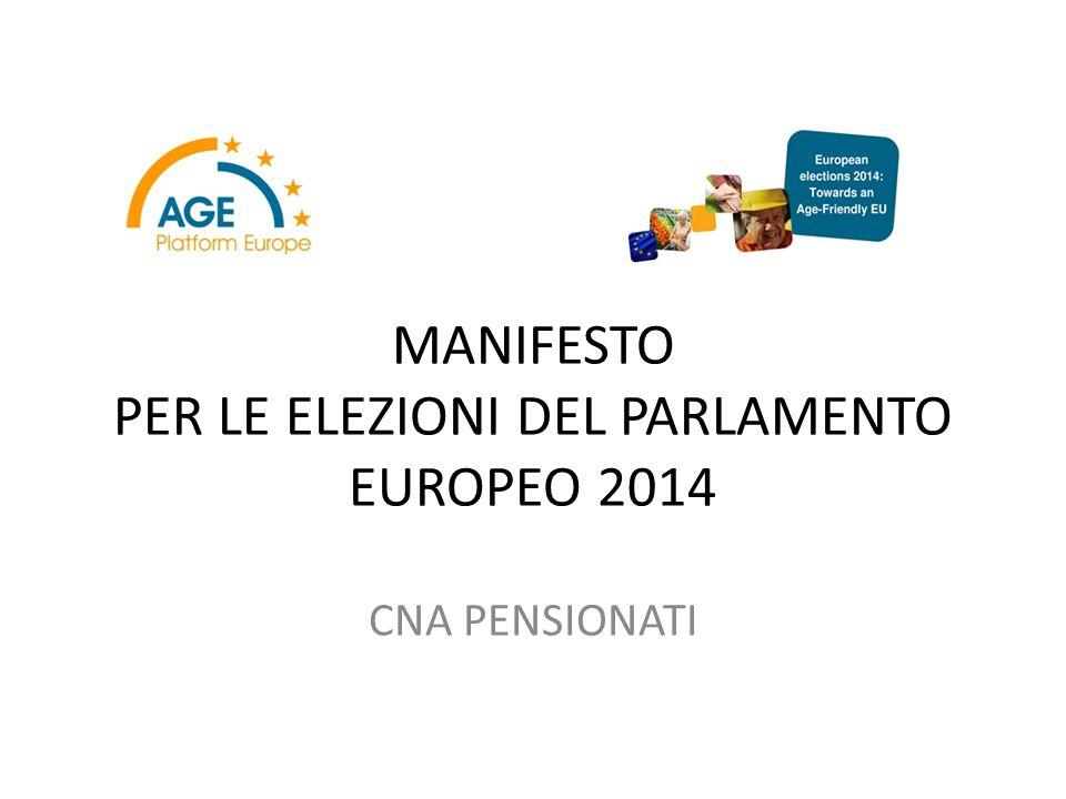 PREMESSA Age Platform Europe è una rete europea che racchiude 165 organizzazione di e per le persone ultra cinquantenni, dà voce e promuove gli interessi di 150 milioni di cittadini senior in UE e pone l'attenzione su tematiche che più li riguardano.