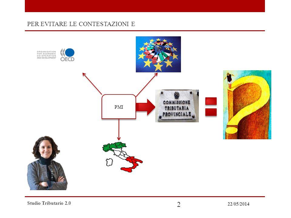 22/05/2014 Studio Tributario 2.0 3 Studi Tributari Tradizionali ELEVATA COMPETENZA ELEVATI COSTI CONTENZIOSO POCO SVILUPPATO