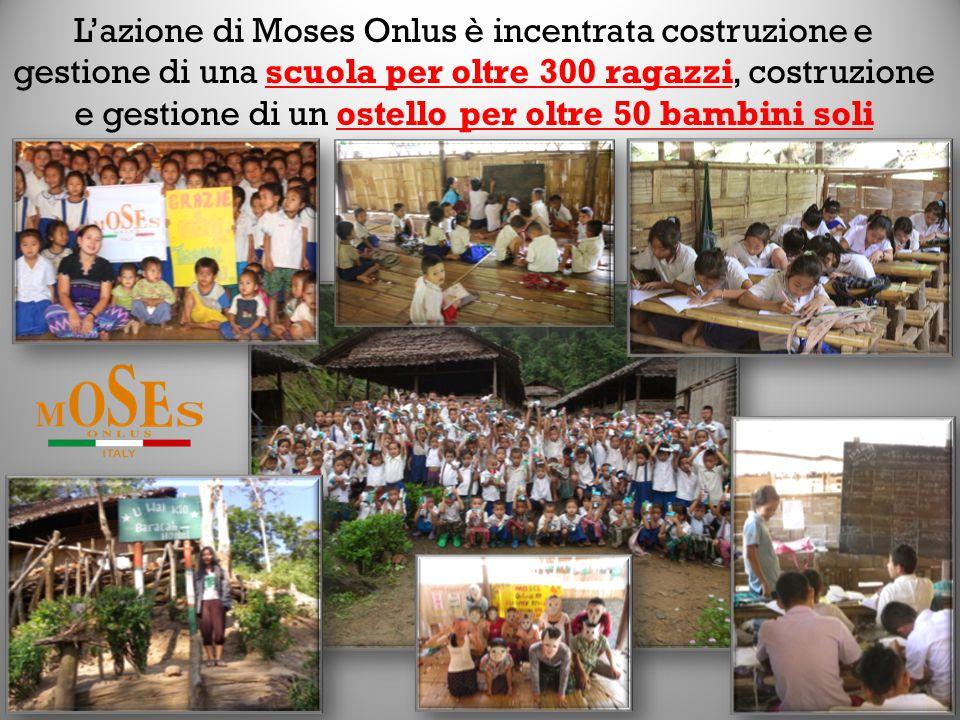 L'azione di Moses Onlus è incentrata costruzione e gestione di una scuola per oltre 300 ragazzi, costruzione e gestione di un ostello per oltre 50 bambini soli