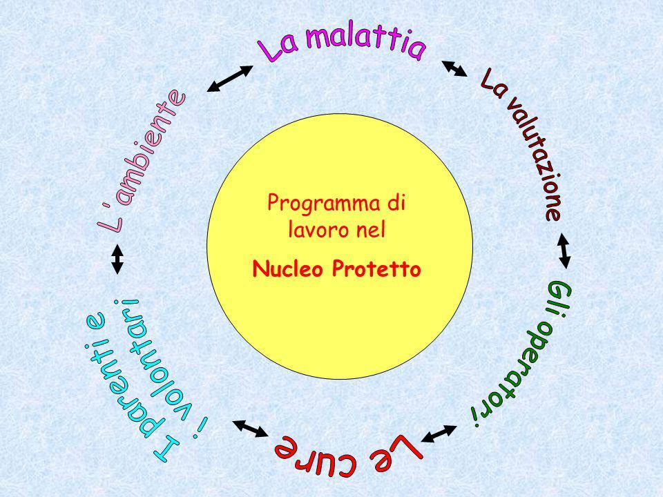 Programma di lavoro nel Nucleo Protetto