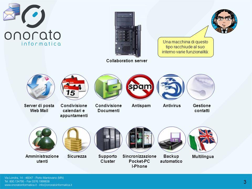 4 Un collaboration server è formato da 5 componenti fondamentali che lo rendono affidabile e sicuro per affrontare carichi di lavoro estremamente elevati.