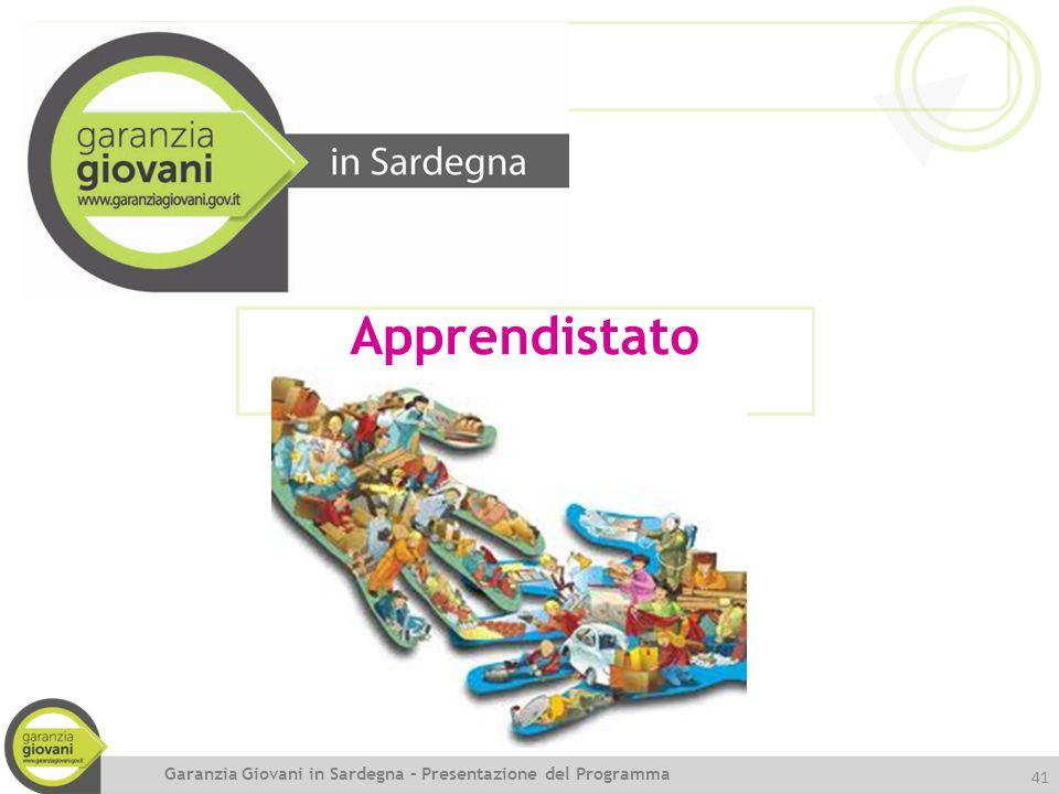 41 Apprendistato Garanzia Giovani in Sardegna – Presentazione del Programma
